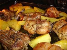 Колик запечёный в духовке с картошкой